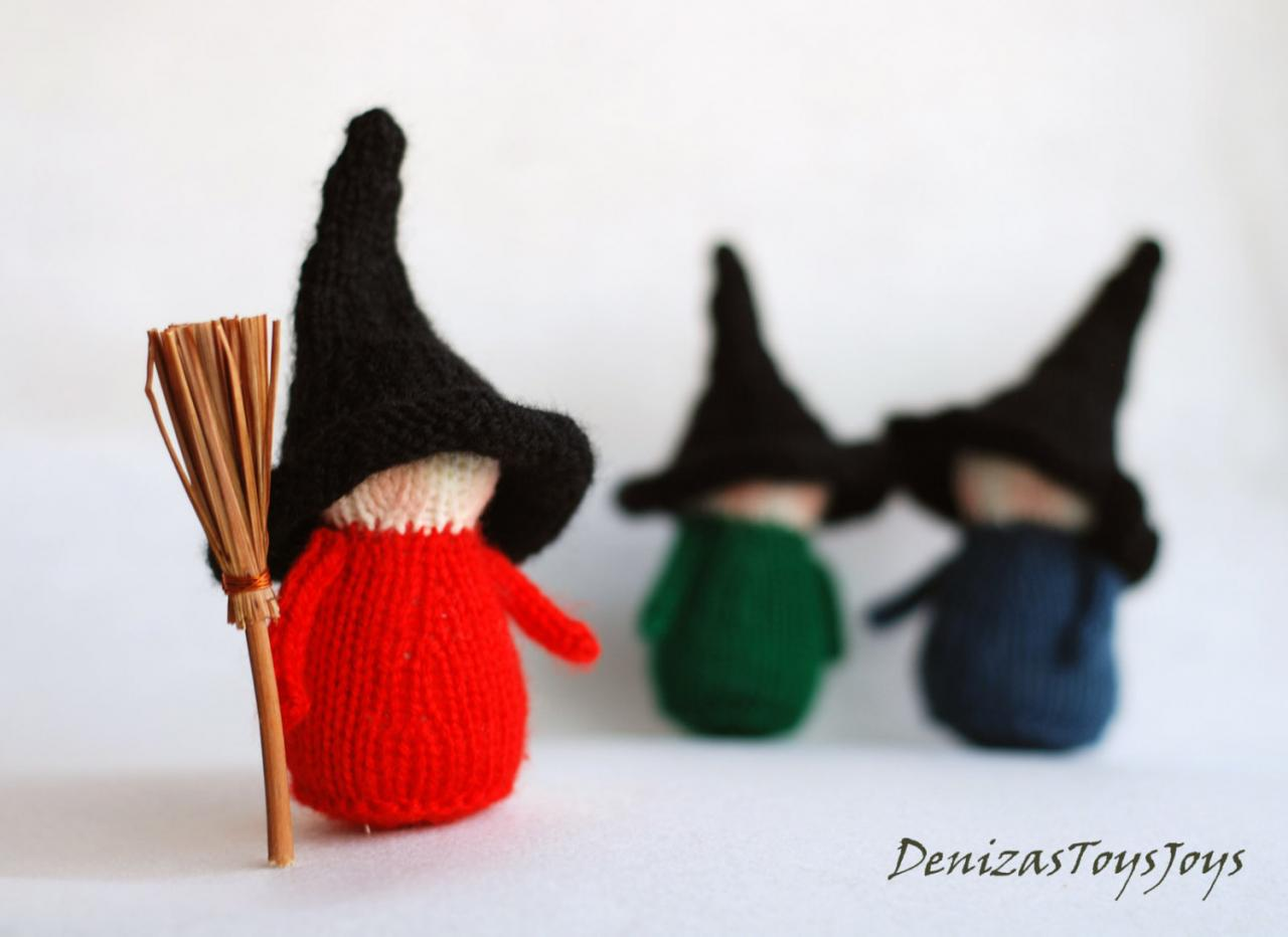 Set of 3 waldorf halloween witches halloween dolls for 3 witches halloween decoration